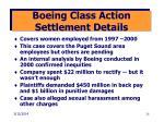 boeing class action settlement details