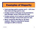 examples of disparity