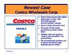newest case costco wholesale corp