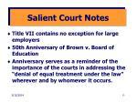 salient court notes