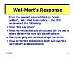 wal mart s response