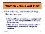 women versus wal mart
