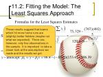 11 2 fitting the model the least squares approach21