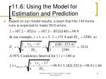 11 6 using the model for estimation and prediction43