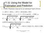 11 6 using the model for estimation and prediction45