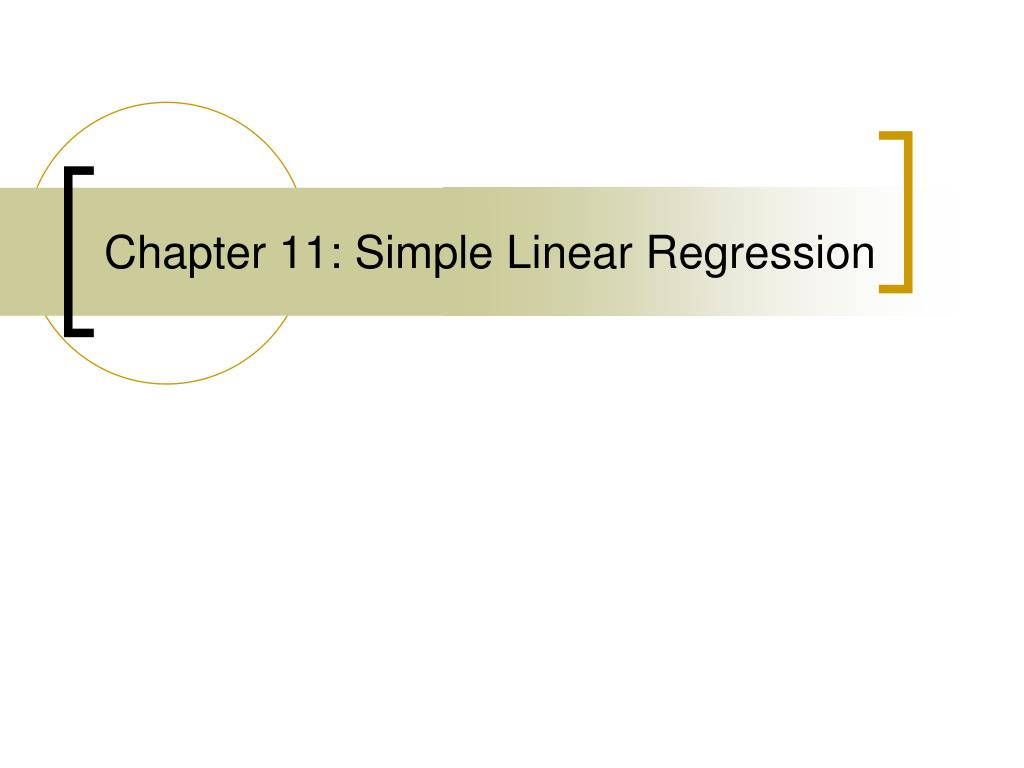 chapter 11 simple linear regression l.