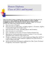 honors diploma class of 2011 and beyond16