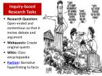inquiry based research tasks
