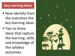 key learning ideas