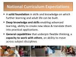 national curriculum expectations