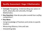 quality assessment stage 4 mathematics