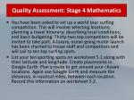 quality assessment stage 4 mathematics50
