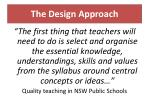 the design approach15