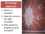 the design approach21