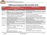 differences between ndi and ncs 1 2