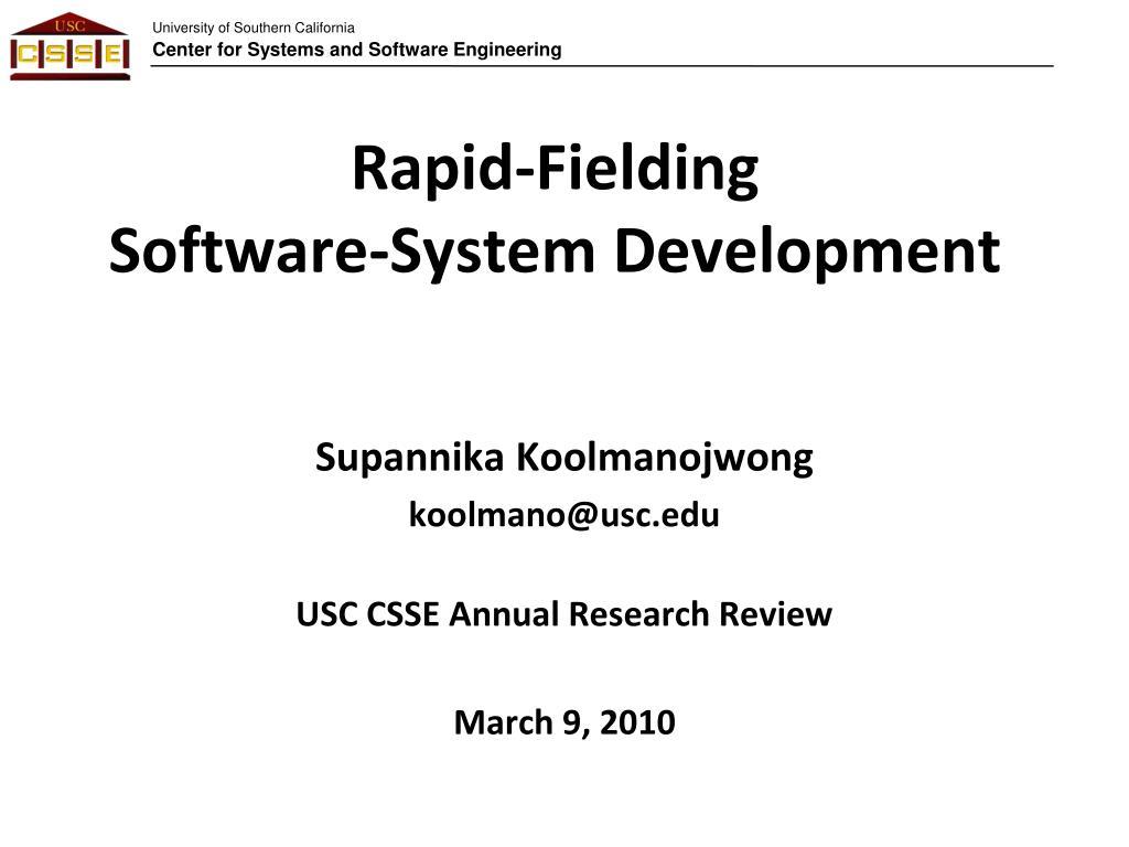 rapid fielding software system development l.