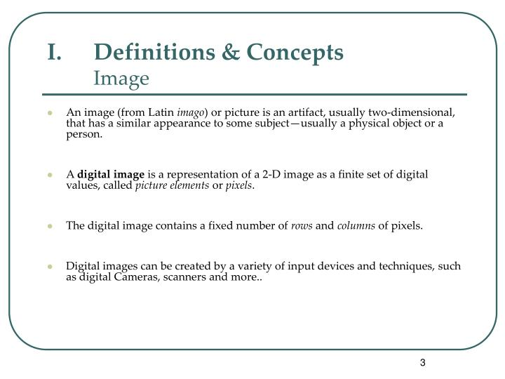 Definitions concepts image