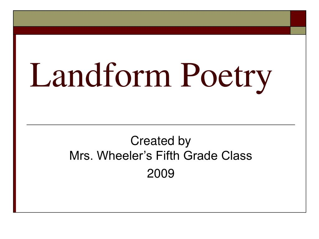 landform poetry l.