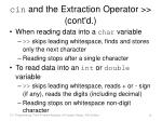 cin and the extraction operator cont d10