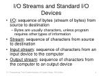 i o streams and standard i o devices