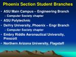phoenix section student branches