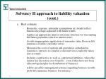solvency ii approach to liability valuation cont