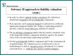 solvency ii approach to liability valuation cont10