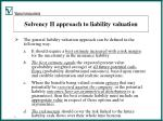 solvency ii approach to liability valuation