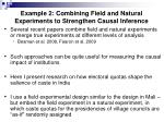 example 2 combining field and natural experiments to strengthen causal inference