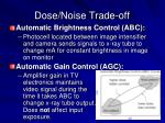 dose noise trade off
