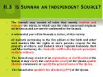 ii 3 is sunnah an independent source