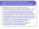 a legal mandate and requirement to produce an iea helps initiation of process