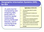 geographic information systems gis for iea