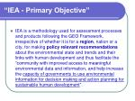 iea primary objective
