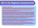 iea the regional assessments
