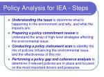 policy analysis for iea steps