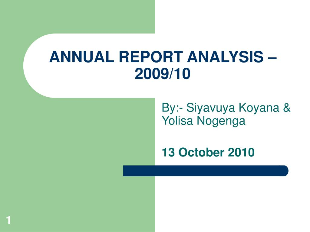 annual report analysis 2009 10 l.