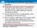 1 survival of children ever born13