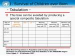 1 survival of children ever born7