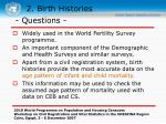 2 birth histories