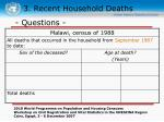 3 recent household deaths29