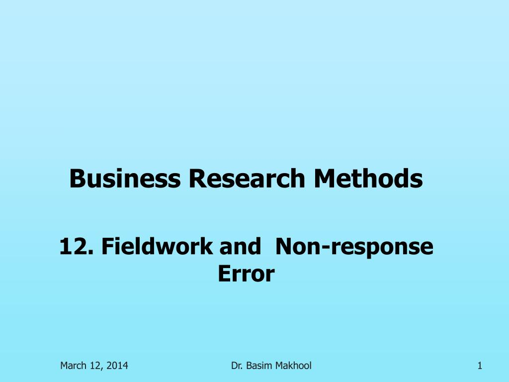 business research methods l.