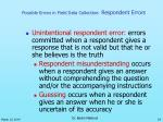 possible errors in field data collection respondent errors24