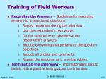 training of field workers9