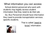 what information you can access