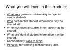 what you will learn in this module