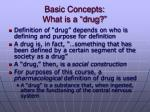 basic concepts what is a drug