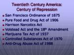 twentieth century america century of repression