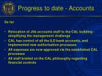 progress to date accounts