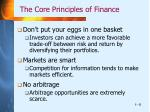 the core principles of finance5